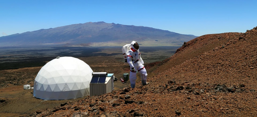 Researchers have spent the last six months in a dome on the slope of a volcano in Hawaii.