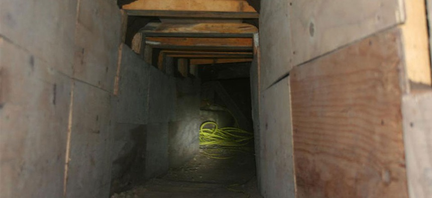 U.S. Border Patrol has discovered tunnels such as this 36-foot smuggling tunnel near Tucson.
