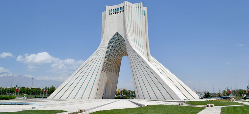 Tehran's Azadi monument celebrates the Persian Empire.
