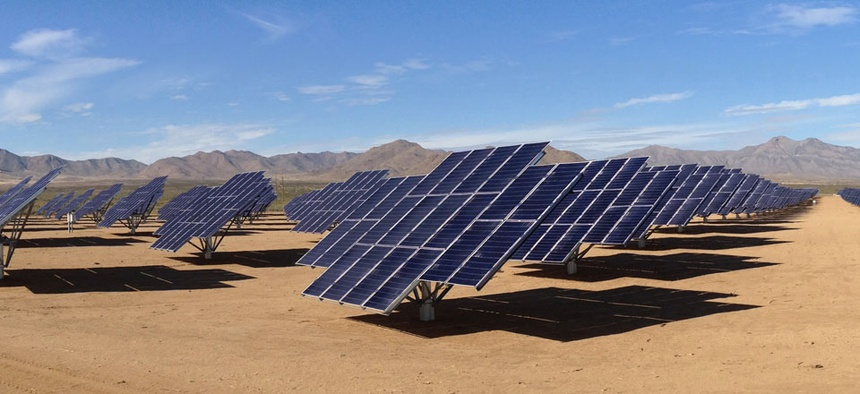 The U.S. Army's solar array at White Sands, New Mexico