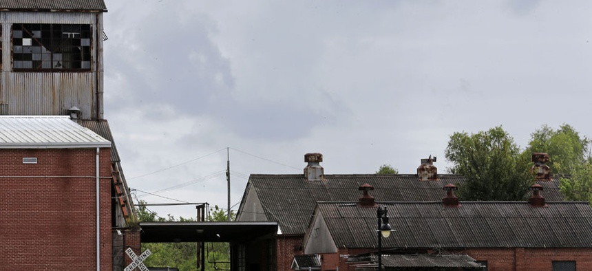 Clouds form in Belle Chasse, La., as Tropical Storm Karen moves
