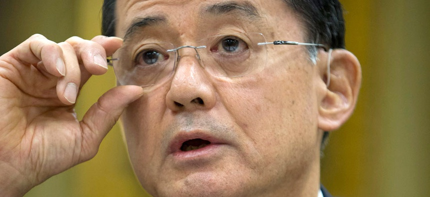 VA Secretary Eric Shinseki testified at a hearing of the House VA Committee Wednesday.