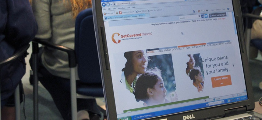 Illinois' Get Covered site is shown Oct. 1.