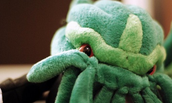 "The titular character in the short story ""The Call of Cthulhu"" is often rendered as a green monster with tentacles."