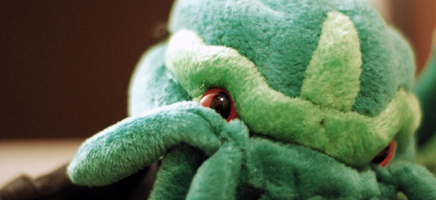 """The titular character in the short story """"The Call of Cthulhu"""" is often rendered as a green monster with tentacles."""