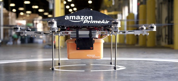 The Prime Air unmanned aircraft project that Amazon is working on in its research and development labs.
