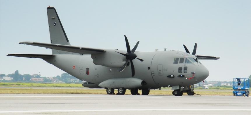 The  Alenia C-27J is an Italian cargo aircraft.