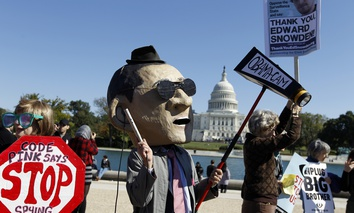 Protestors demonstrated against the NSA program in October in Washington.