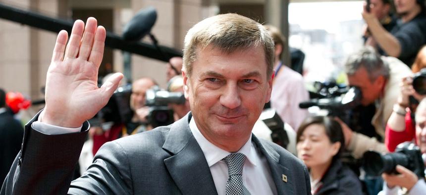 Estonia's Prime Minister Andrus Ansip