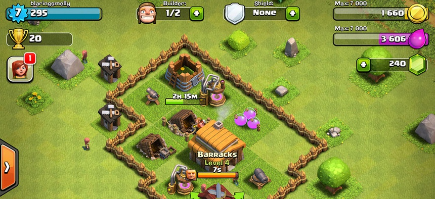 Clash of Clans is one of the most profitable games.