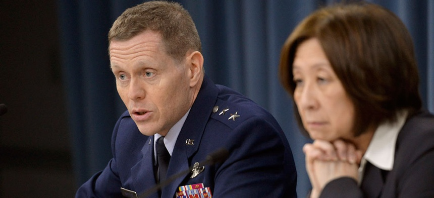 Deputy CIO for Command, Control, Communications and Computer Maj. Gen. Robert Wheeler and Chief Information Officer Teri Takai briefed the press on spectrum last week.