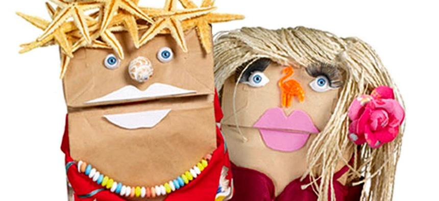 Fandango's famous bag puppets.