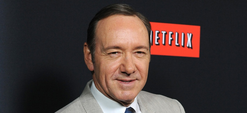 Kevin Spacey stars in the Netflix original series House of Cards.