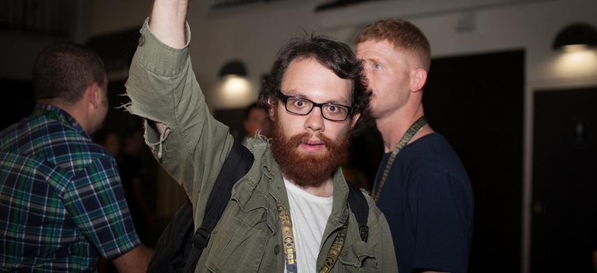 "Andrew Auernheimer, better known by his online alias ""Weev,"" who was charged with stealing thousands of email addresses from AT&T's servers."
