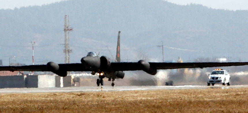A US Air Force U 2 Spy Plane Takes Off From The Airbase In