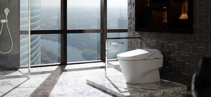 A NEOREST 750H high tech toilet.