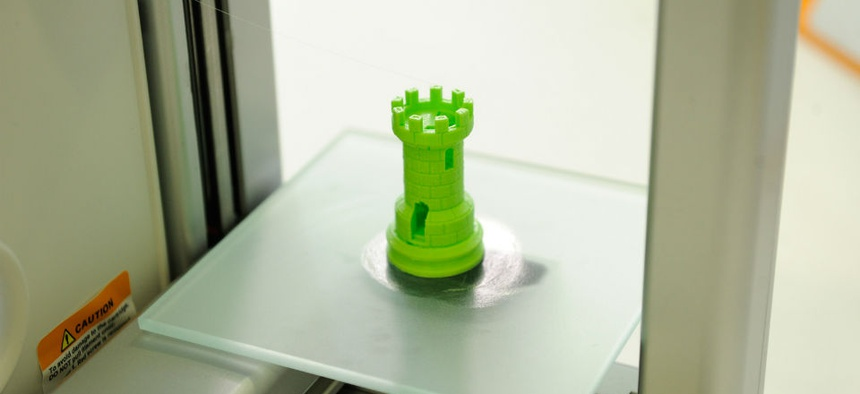 A 3D printed chess piece.