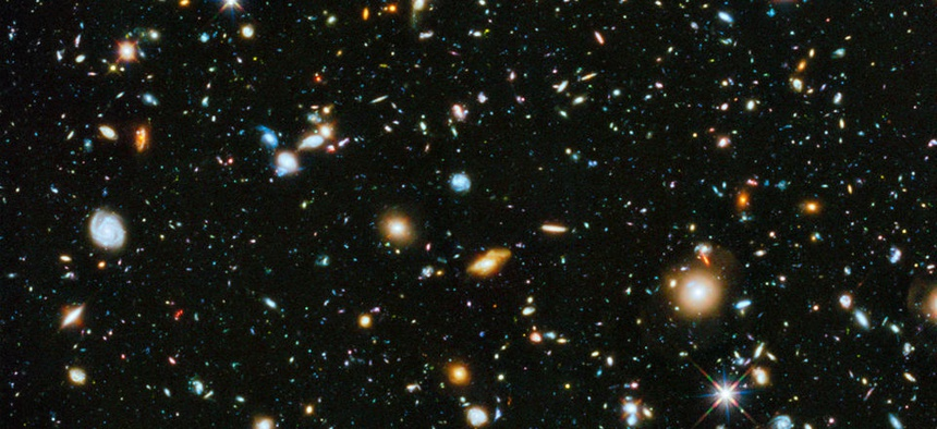 The visible and near infrared light spectrum collected from NASA's Hubble Space Telescope over a nine-year period.