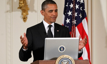 """Obama participated in a Twitter """"Town Hall"""" event in 2011."""