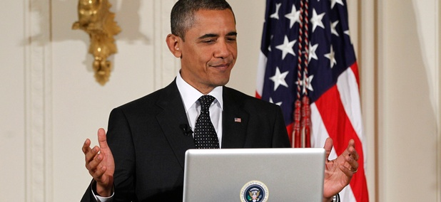 "Obama participated in a Twitter ""Town Hall"" event in 2011."