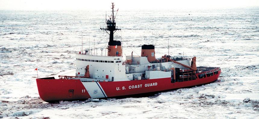 A U.S. Coast Guard Ice Cutter, Polar Star.