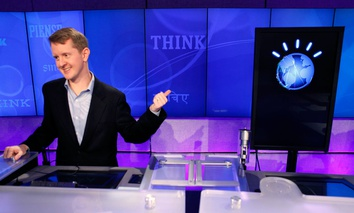 "Jeopardy!"" contest Ken Jennings, who won a record 74 consecutive games, refers to his opponent, an IBM computer called ""Watson""."
