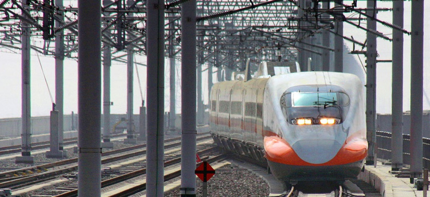 High speed rail in Taiwan.