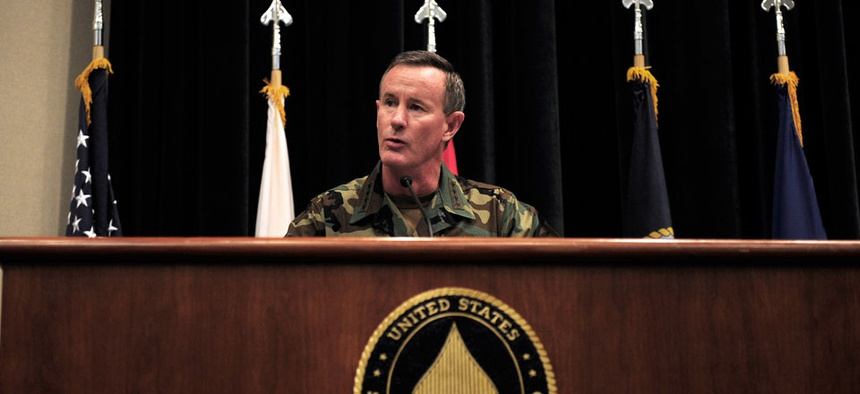 Navy Adm. William H. McRaven, the commander of U.S. Special Operations Command.