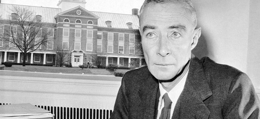 Dr. J. Robert Oppenheimer on December 5, 1958.