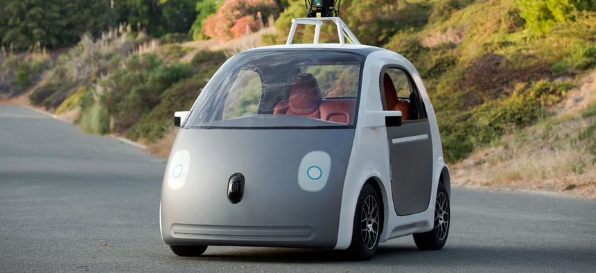 A very early version of Google's prototype self-driving car. The two-seater won't be sold publicly, but Google on Tuesday, May 27, 2014 said it hopes by this time next year, 100 prototypes will be on public roads.