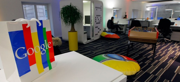 A view of the Google France office.