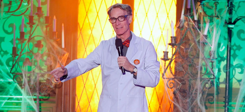 Bill Nye the Science Guy, an icon for the millenial generation.