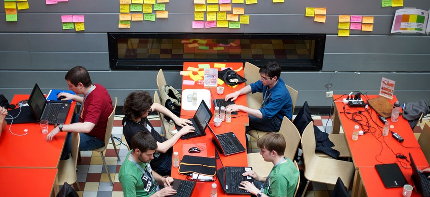Wikimedia's annual development community meet-up — the Wikimedia Hackathon — was held in Amsterdam, Netherlands in 2013.