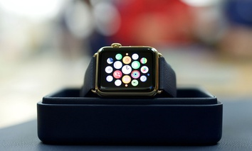 The Apple Watch on display.
