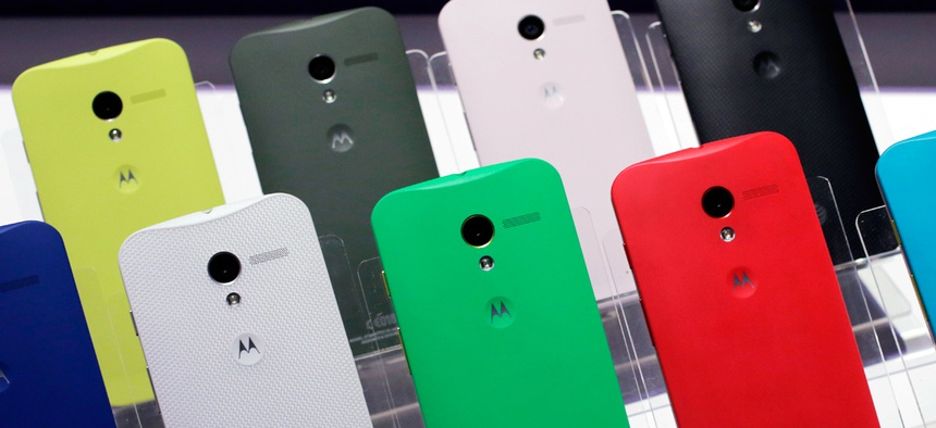 Motorola Moto X smartphones, using Google's Android software.