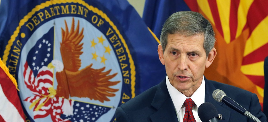 VA Deputy Secretary Sloan Gibson speaks. (AP File Photo/Matt York)