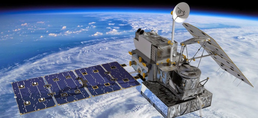 Artist's concept of the Global Precipitation Measurement (GPM) Core Observatory, a joint international project of NASA and the Japan Aerospace Exploration Agency (JAXA).