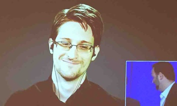 Former National Security Agency contractor and whistleblower Edward Snowden spoke about surveillance and civil liberties at the Oct. 13 Computers, Freedom & Privacy Conference 2015 in Alexandria, Virginia.