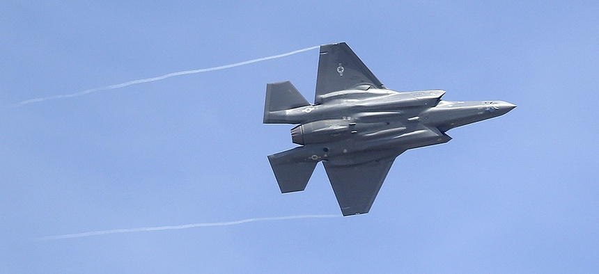 An F-35 jet arrives at it new operational base Wednesday, Sept. 2, 2015, at Hill Air Force Base, in northern Utah.
