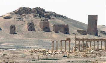The general view of the ancient Roman city of Palmyra, northeast of Damascus, Syria. Syrian activists said late Sunday, Oct. 4, 2015, that Islamic State militants have destroyed a nearly 2,000-year-old arch in the ancient city.