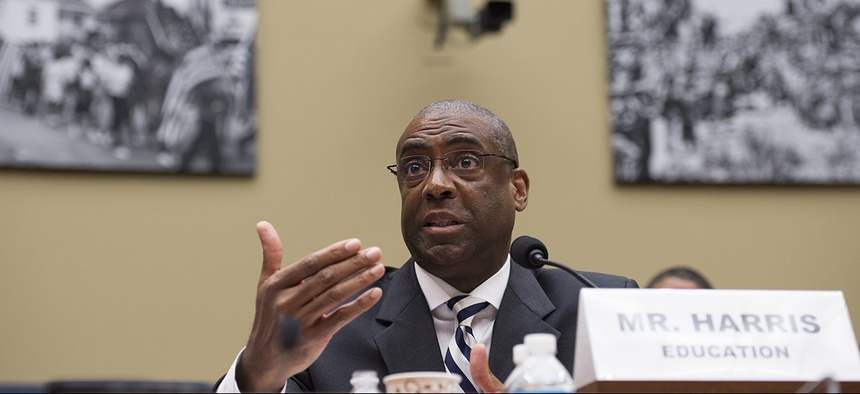 Education Department CIO Danny Harris testifies before the House Committee on Oversight and Government Reform