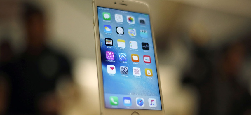 An Apple iPhone 6S is displayed at an Apple store on Chicago.