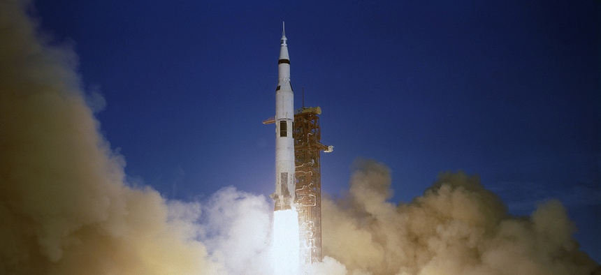 Apollo 8 blastoff, Cape Kennedy, Fla., Dec. 21, 1968.