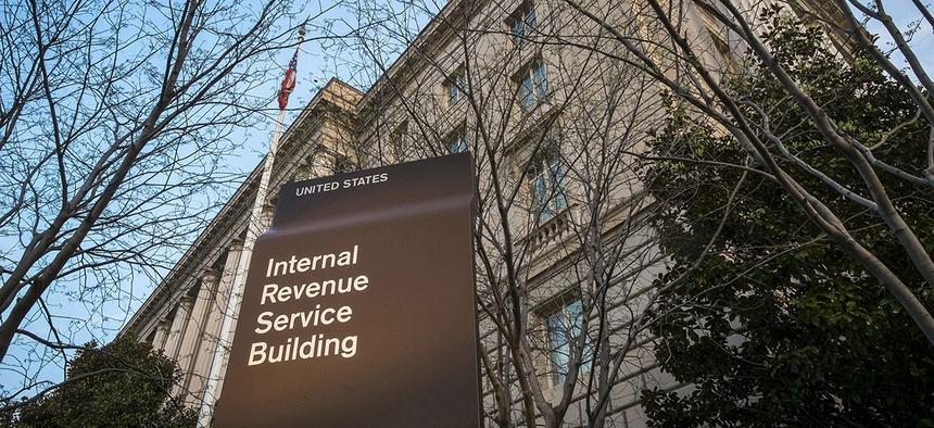 The Internal Revenue Service headquarters building in Washington, DC.