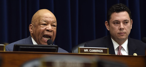 House Oversight and Reform Committee ranking member Rep. Elijah Cummings, D-Md., left, sitting next to Committee Chairman Rep. Jason Chaffetz, R-Utah.