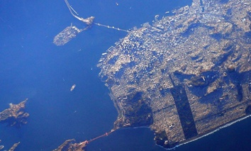 Astronaut Scott Kelly snapped this photo of the San Francisco peninsula from the International Space Station in 2015.
