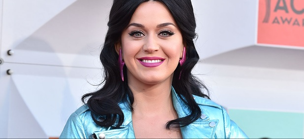 Katy Perry arrives at the 51st annual Academy of Country Music Awards in Las Vegas.