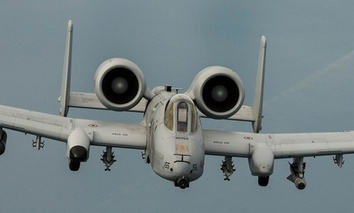 An A-10 Thunderbolt II flies over the Baltic Sea on Sept. 4, 2015.