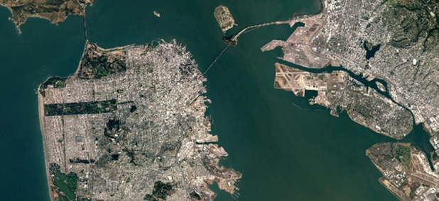 Google Maps's newest depiction of the San Francisco Bay area includes certain features, like the new span of the Bay Bridge, that just weren't there in 2013.