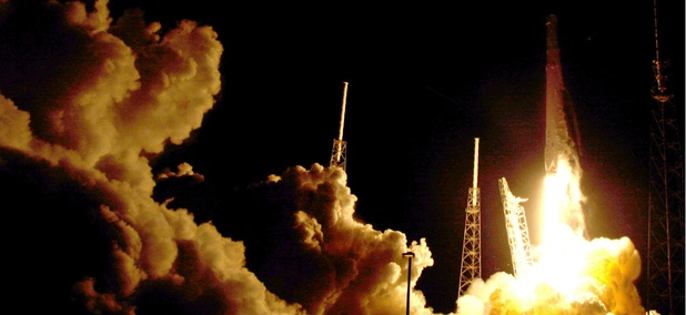 The Falcon 9 SpaceX rocket lifts off from launch complex 40 at the Cape Canaveral Air Force Station in Cape Canaveral, Fla., Monday, July 18, 2016.